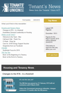 Tenants' News - First Quarterly 2019